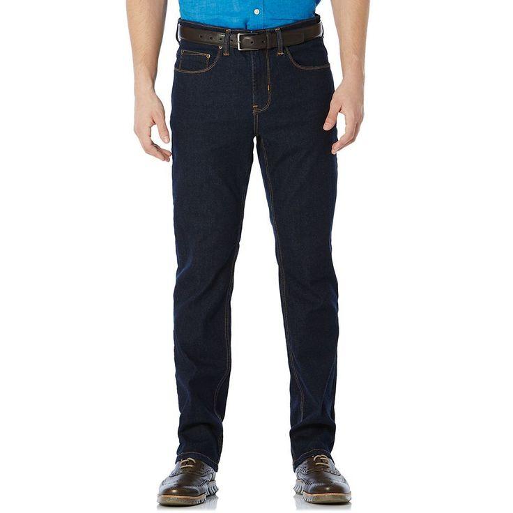 Big & Tall Savane Straight-Fit Active Flex Denim Pants, Men's, Size: 38X36, Blue Other