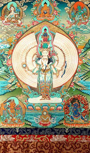 Thousand-armed Avalokiteshvara (Chenrezig) #tibetan #art