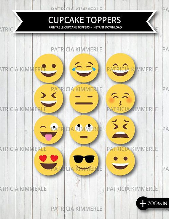 Printable Cupcake Toppers Emoji OMG Face Emoji Images