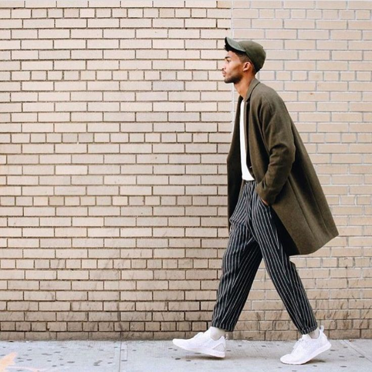 Striped and Olive   Men's Street Style