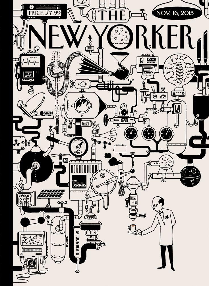 La Belle Illustration: Christoph Niemann, The New Yorker, couverture, 16 novembre 2015