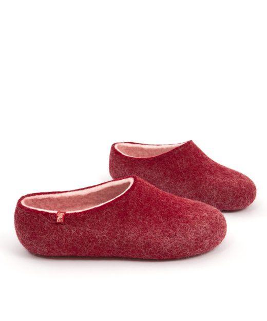 wooppers_woolen slippers_BLISS_darkred
