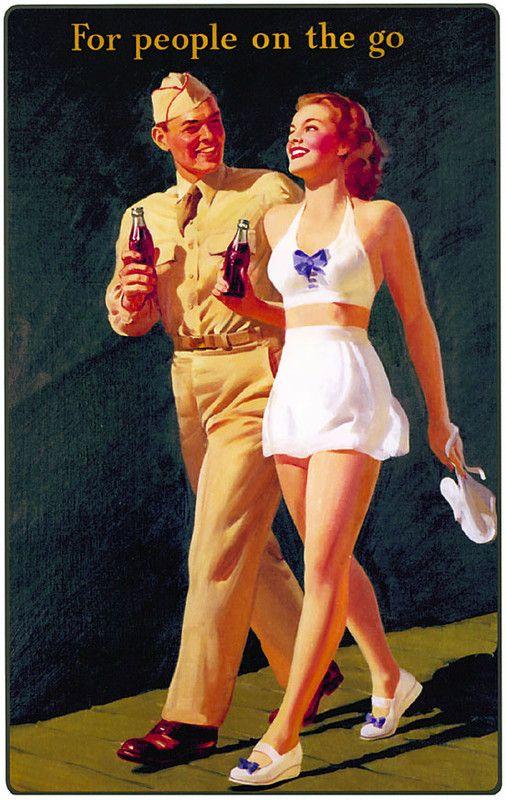 Illustrations vintage Coca-Cola #vintage More