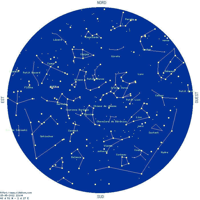 Carte du ciel permanente