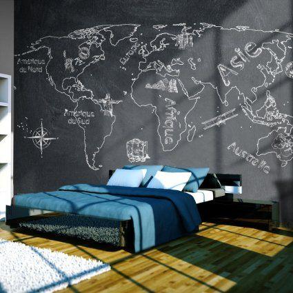 Papier peint intissé !!! Top vente !!! Papier peint !!! Tableaux muraux XXL !!!! 350x270 cm la carte du monde !!! 10040910-58