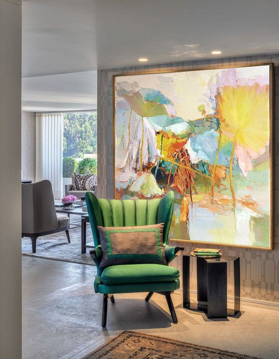 Large Landscape Painting on Canvas Abstract Art. by CelineZiangArt