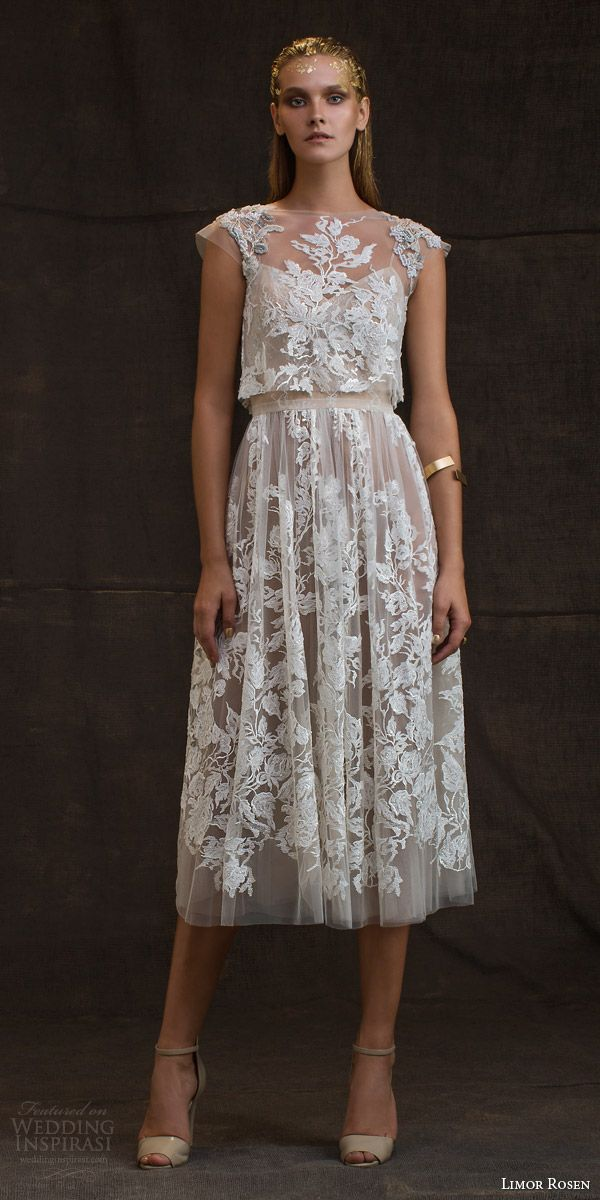 v neck knee length dress with raised flowers on hem