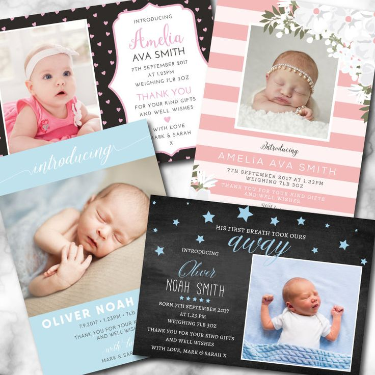 79 best Birth Announcements images – New Baby Born Announcement