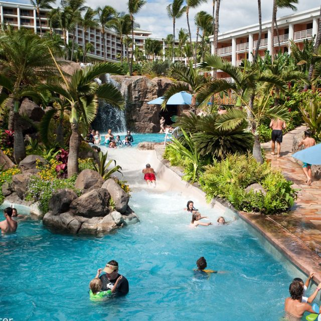 Grand Wailea Resort Maui: Resorts Hotels, Wailea Resorts, Maui, Favorite Places, For Kids, Grand Wailea, Cool Pools, Hotels Spa, Water Parks