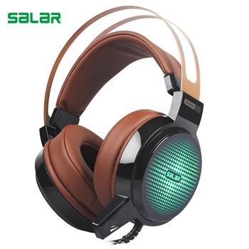 Salar C13 Wired Gaming Headset Deep Bass Game Earphone Computer headphones with microphone led light headphones for computer pc  Price: 19.73 USD