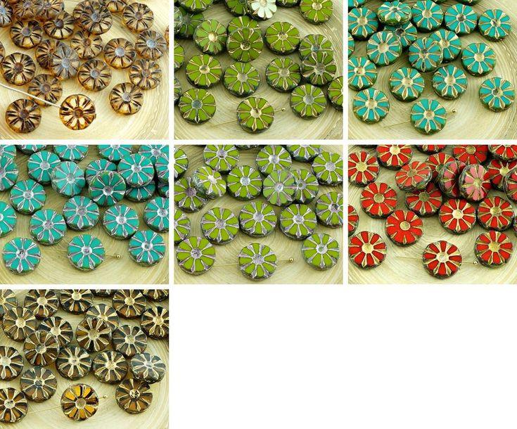 ·٠•●❂♥ 8pcs Picasso Table Cut Flower Flat Coin Czech Glass Beads 12mm https://czechbeadsexclusive.com/product/8pcs-picasso-table-cut-flower-flat-coin-czech-glass-beads-12mm-2/?utm_source=PN&utm_medium=czechbeads&utm_campaign=SNAP #CzechBeadsExclusive #czechbeads #glassbeads #bead #beaded #beading #beadedjewelry #handmade