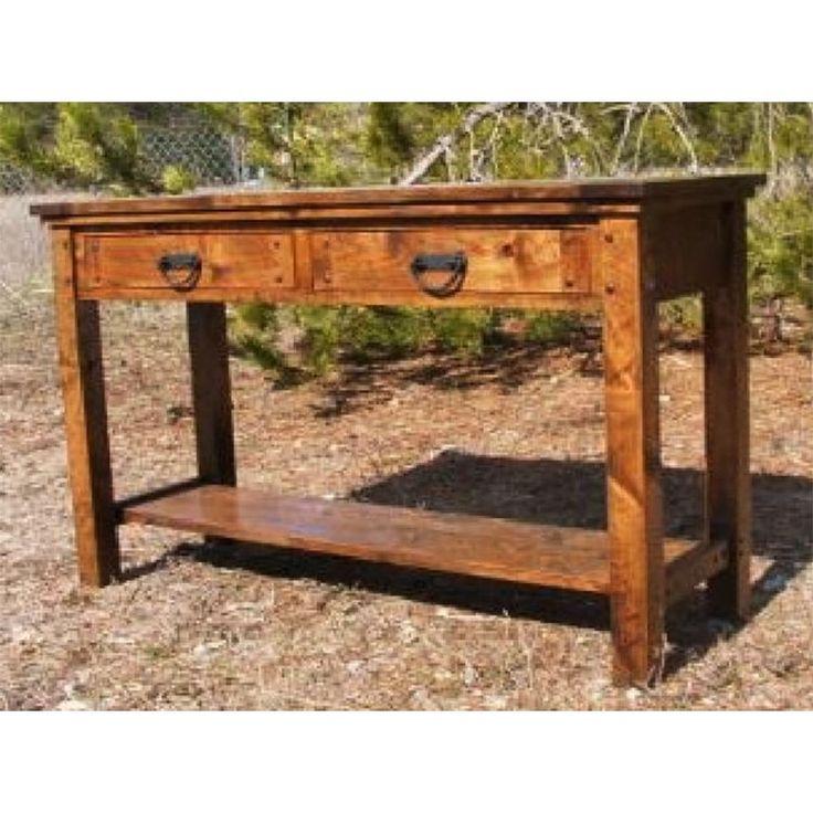 Autumn Comfort Barnwood Sofa Table