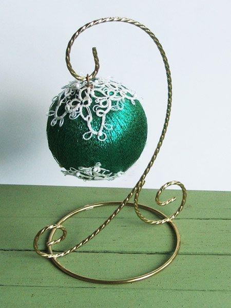 tatted ornament by NanEsnook on Etsy, $18.00