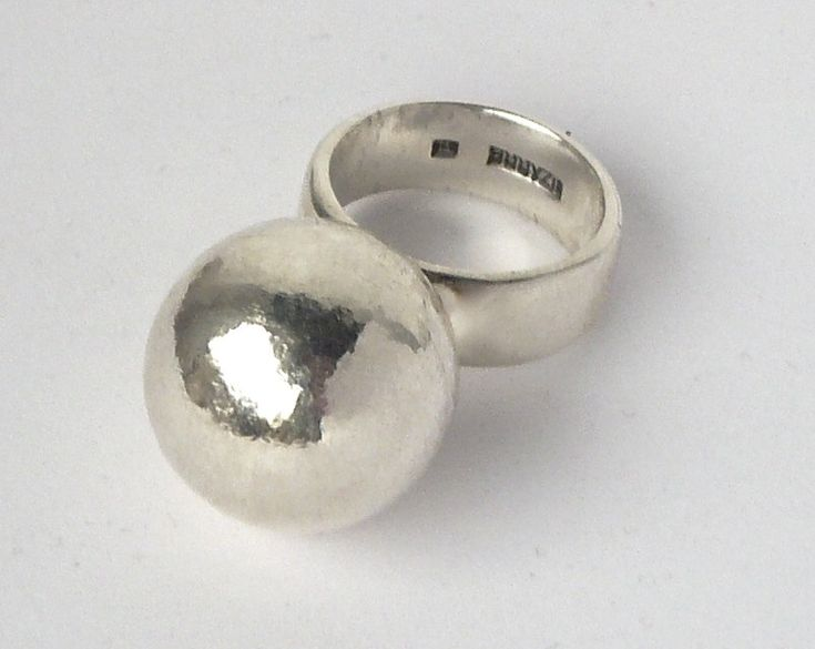sterling silver big ball ring by BIZARREjewelry on Etsy