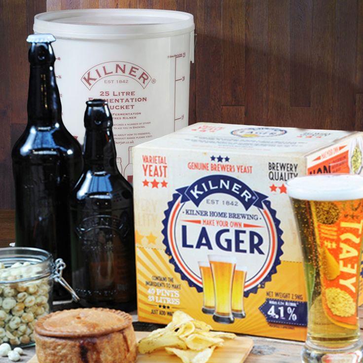 Zelf je eigen bier brouwen met dit originele bierbrouw pakket cadeau van het merk Kilner.