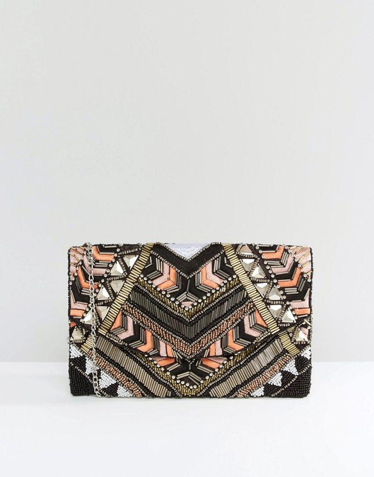 Image 1 ofNew Look Embellished Clutch Bag