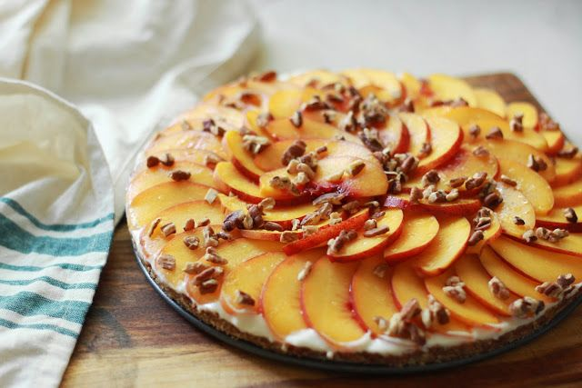 Eat Live Love: Recipe: Peach and Creme Fraiche Tart --> no bake!