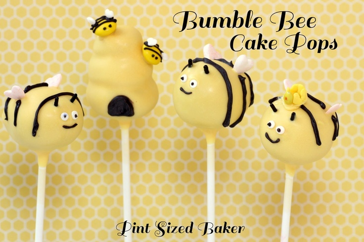 Pint Sized Baker: How to Make Bumble Bee Cake Pops