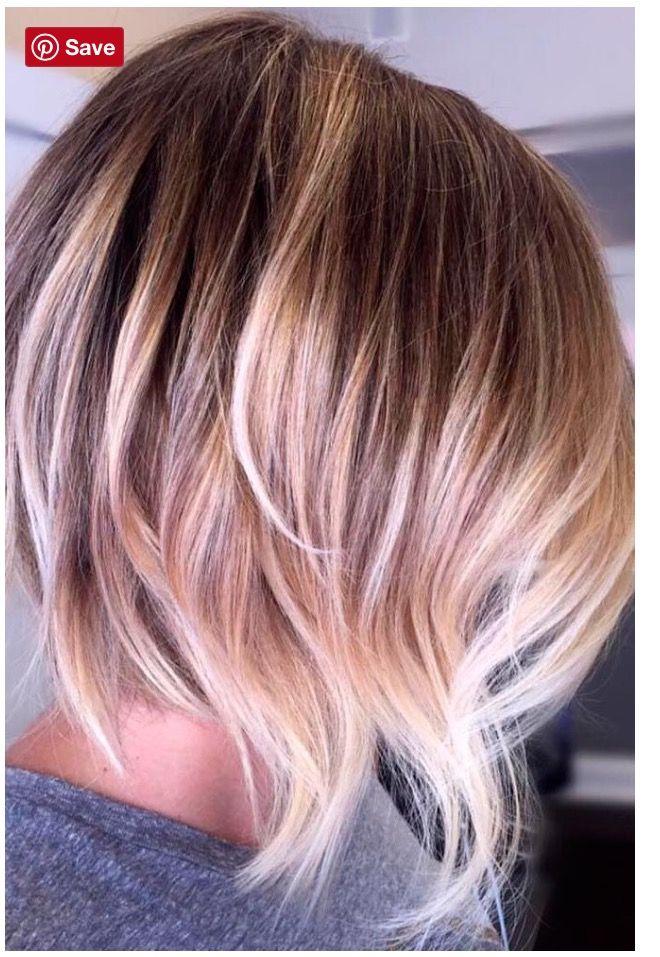 Farbe Und Schnitt Mag Ich Haaaarig Balayage Kurze Haare Blond