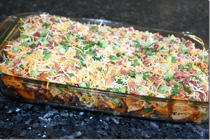 loaded baked potato chicken casserole - no cream-of soup