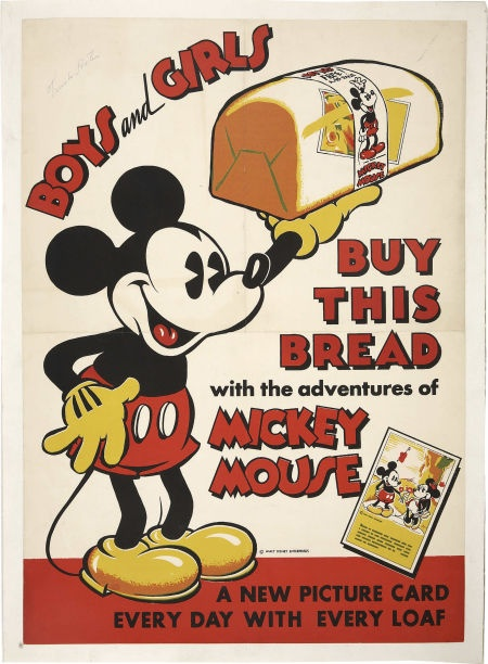 Mickey Mouse Bread Store Signs (Walt Disney, c. 1930s)