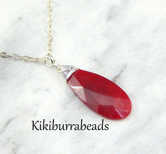 Ruby Necklace July Birthstone Layerling NecklaceSterling
