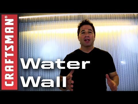 How to Build a Water Wall: Indoor Waterfall Fountain | Craftsman - YouTube
