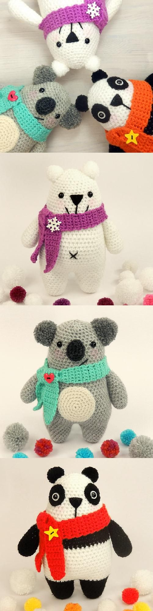 Ning Ning, Norris and Nook amigurumi pattern by Janine Holmes at Moji-Moji…