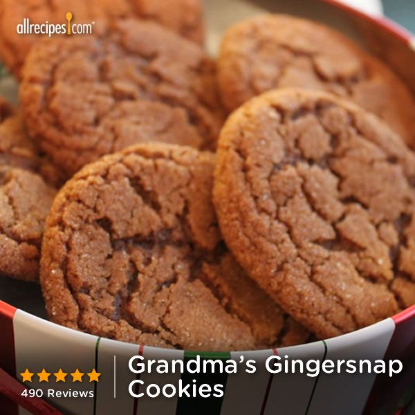 "Grandma's Gingersnap Cookies | ""These are the best ginger cookies I have ever had. Have been searching for the perfect mix of flavor and texture and this is it. Amazing, and even my picky 15 year old daughter LOVED them."""