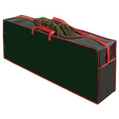 artificial christmas tree storage bag clean up holiday 472 inches redgreen new - Plastic Christmas Tree Storage Box