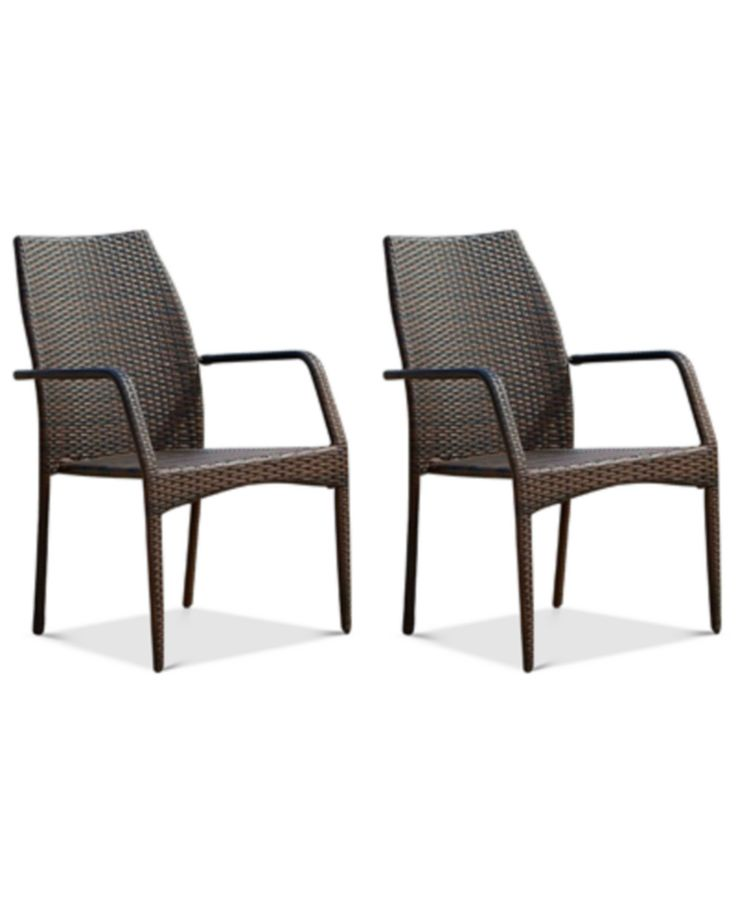 Holtan Set of 2 Outdoor Wicker Chairs, Quick Ship - Outdoor & Patio Furniture - Furniture - Macy's