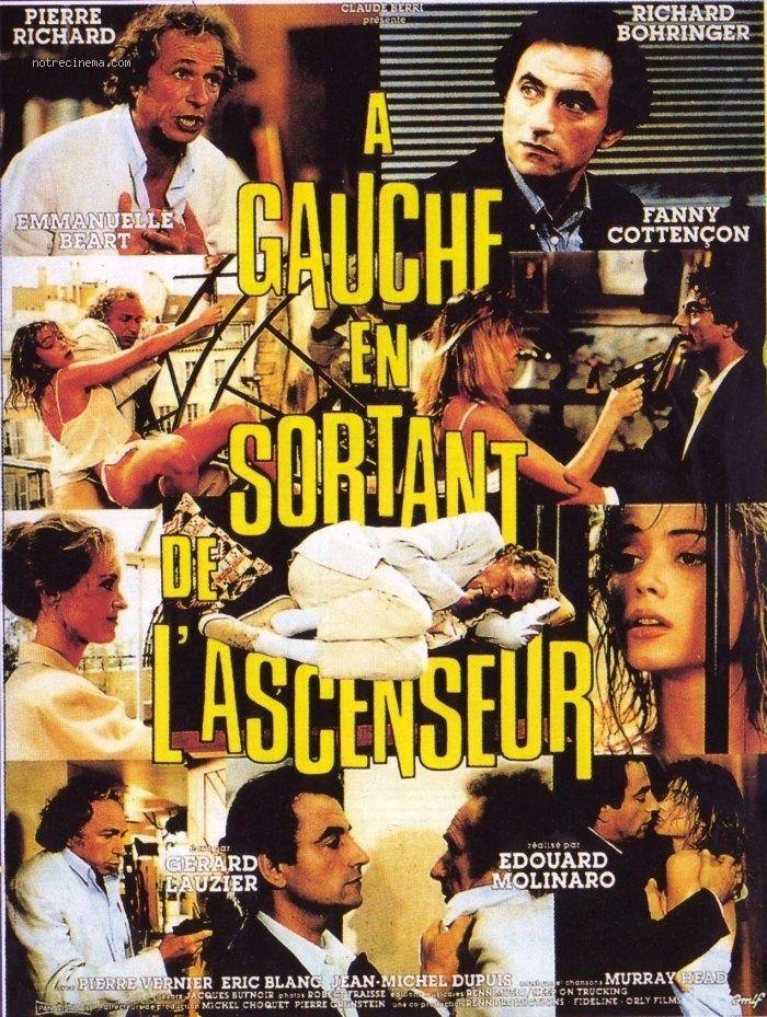 À gauche en sortant de l'ascenseur est un film français de comédie réalisé par Édouard Molinaro et sorti en 1988. Yan qui attend un rendez-vous galant se trouve embarrassé par sa voisine qui a claqué la porte de chez elle alors qu'elle était sur le paillasson en petite tenue.