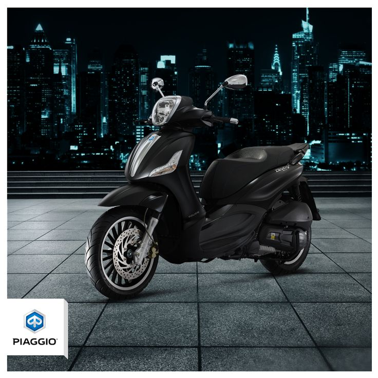 The metropolitan scooter with a bold attitude: Beverly 300 by Police. #piaggio #PiaggioBeverly #BeverlyPolice #city #urban