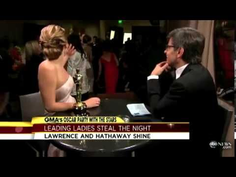 """""""JENNIFER LAWRENCE - Oscar Interview"""" is Interrupted by Jack Nicholson. She is so hilarious!"""