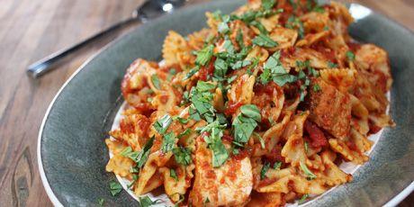 San Marzano Chicken with Oregano and Basil by chef Micheal Smith