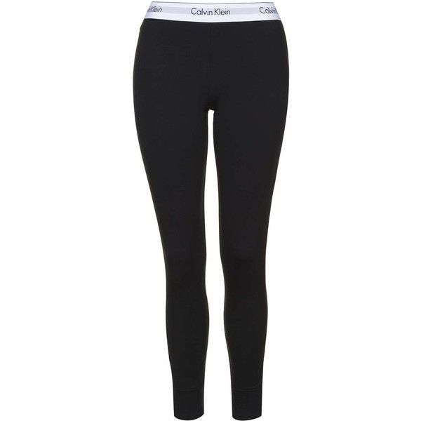 Modern Cotton Black Leggings by Calvin Klein ($61) ❤ liked on Polyvore featuring women's fashion, pants, leggings, black, black cotton leggings, topshop pants, topshop, cotton leggings and cotton trousers
