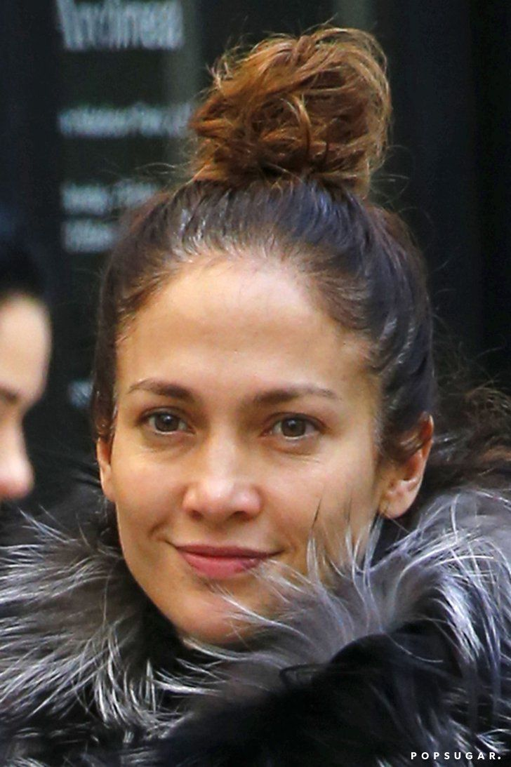 Pin for Later: These Photos of Jennifer Lopez Wearing No Makeup Will Inspire You to Skip the Foundation