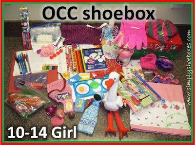 OCC shoebox for 10-14 year old girl   Samaritan's Purse   Operation christmas child shoebox ...