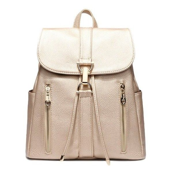 Leisure Metal and Solid Color Design Women's Satchel ❤ liked on Polyvore featuring bags, handbags, satchel handbags, satchel purses, satchel style purse, satchel hand bags and satchel bag