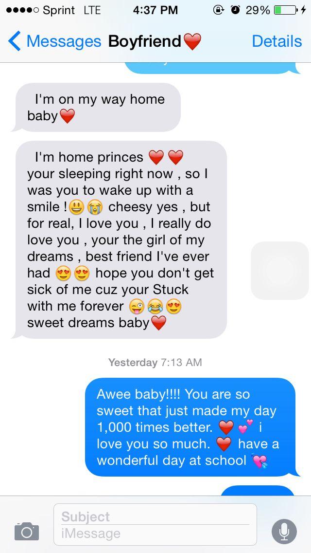 Cute Goodnight Texts Girlfriend