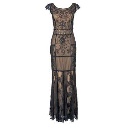 Lace Beaded Full Length Dress