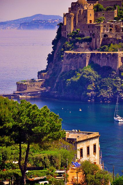 Castello Aragonese in Ischia, Gulf of Naples, Italy (by ORSOMARINO).