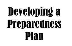 Developing a preparedness plan