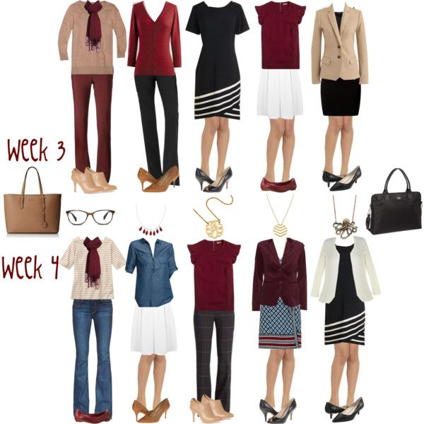 Camel & Cranberry Capsule: Week 3 & 4 by kristin727 on Polyvore…