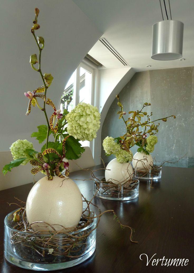 Atelier Vertumne Plus : décoration végétale avec des oeufs géants. #pâques #oeufs