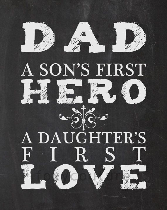 Download DAD A Son's First Hero, A Daughter First Love on a Faux ...