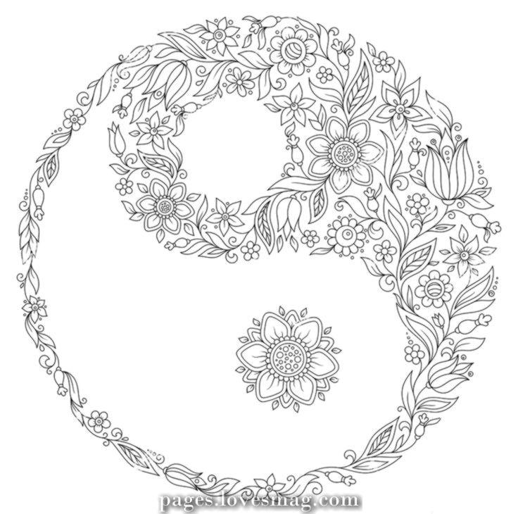 Fantastic Yin Yang Coloring Pages Fresh Drawing Designs At Getdrawings Mandala Coloring Pages Mandala Coloring Yin Yang Art