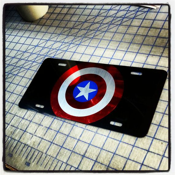 Hey, I found this really awesome Etsy listing at https://www.etsy.com/listing/171736853/captain-america-custom-license-plate