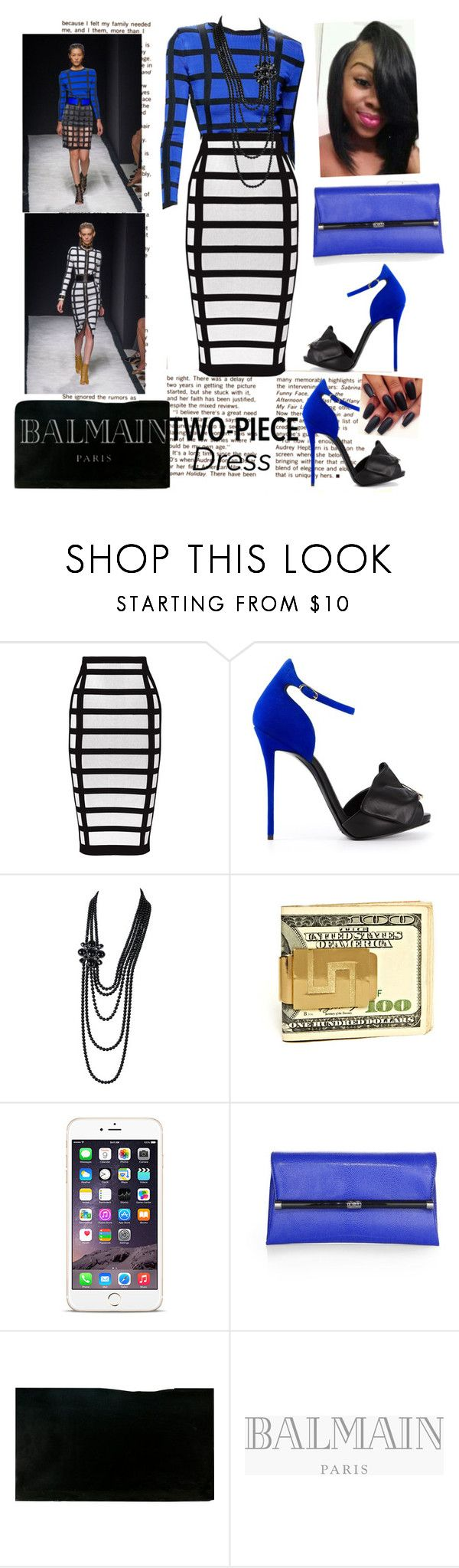 """""""Choir Annual Day!!!"""" by cogic-fashion ❤ liked on Polyvore featuring Balmain, Giuseppe Zanotti, Chanel and Diane Von Furstenberg"""