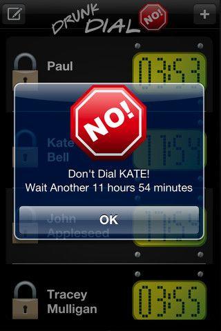 Drunk Dial NO! iPhone App -- amazing